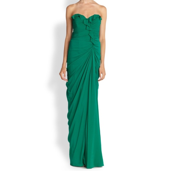 Badgley Mischka Dresses   Emerald Evening Gown   Poshmark